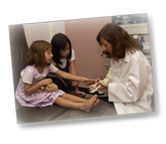 children at the podiatrist